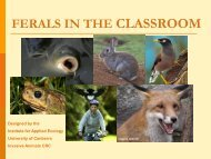 FERALS IN THE CLASSROOM - Pest Tales