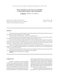 total phenolics and total flavonoids in bulgarian fruits and vegetables