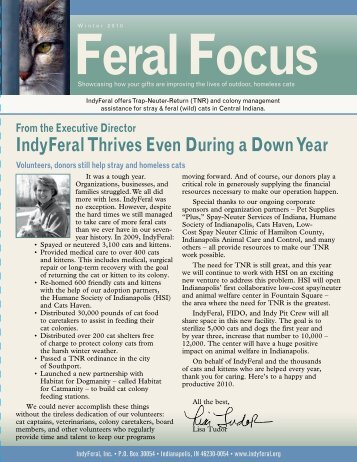 IndyFeral's Winter 2010/Spring 2011 Newsletter