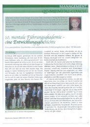 September 2009: Mentale Führungsakademie - Dr. Ehrhardt ...