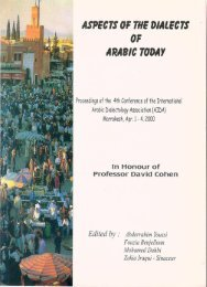 ASPECTS OF THE DIALECTS 0F ARABIC TODAY - gchikovani.ge