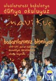 Mavi Kuş Dergisi Sayı 87 - Gazi Üniversitesi Vakfı Özel Okulları