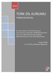 TDK Yazım Kılavuzu - Eskişehir Eti Sosyal Bilimler Lisesi