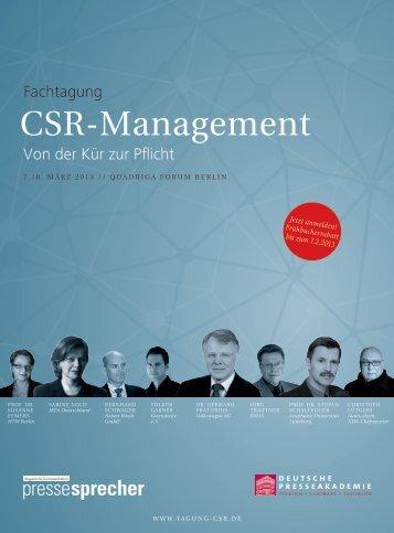 Broschüre zum Download (2,3 MB) - Tagung CSR