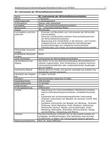 Modulbeschreibungen — gültig gemäß AM 10/2007 [PDF]