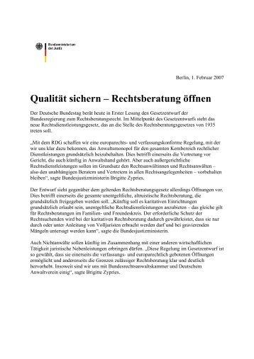 Qualität sichern – Rechtsberatung öffnen - abeKra