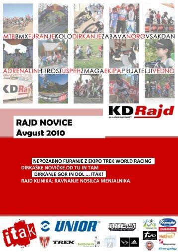 Rajd novice avgust 2010 - KD Rajd