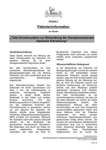 Information für Patienten