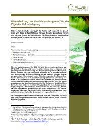 Überarbeitung des Handelsbuchregimes für die - 1 PLUS i GmbH