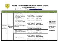 jadual pendaftaran/lapor diri pelajar senior sesi disember 2012 - PUO