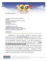 6 de febrero de 2013 Honorable José Luis Dalmau Santiago ...