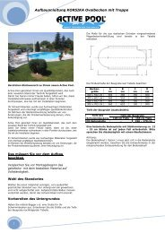 Aufbauanleitung KORSIKA Ovalbecken mit Treppe 1 - Active Pool
