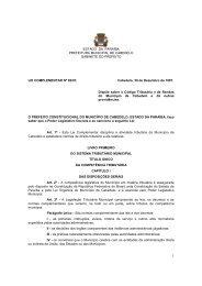 Código Tributário Municipal - Prefeitura Municipal de Cabedelo