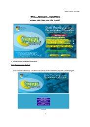 1 MANUAL PENGGUNA : FASILITATOR LAMAN WEB ... - Web PBL