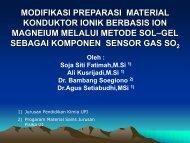 modifikasi preparasi material konduktor ionik ... - Direktori File UPI