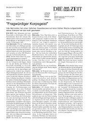 Fragwürdiger korpsgeist - Fernuniversität in Hagen
