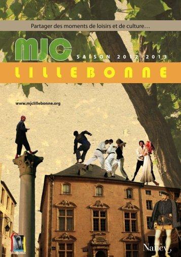 Plaquette-12-13lillebonne - Fédération Régionale des MJC - Lorraine