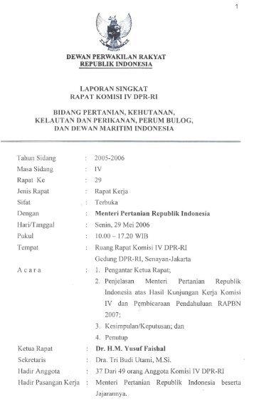 dewan perwakilan rakyat republik indonesia laporan ... - DPR-RI