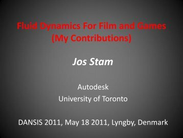 Making Computational Fluid Dynamics Fun for the Masses - DANSIS