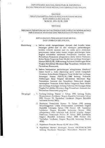 Departemen Keuangan Republik Indonesia Bapepam