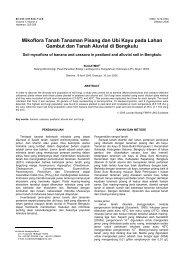 Mikoflora Tanah Tanaman Pisang dan Ubi Kayu pada Lahan ...