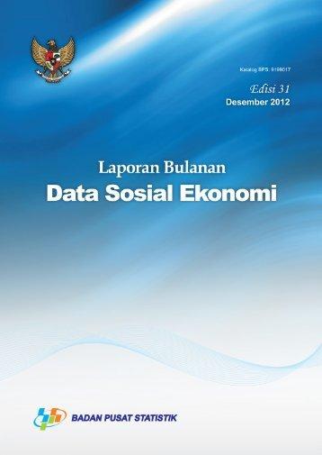 Laporan Bulanan Data Sosial Ekonomi Desember 2012