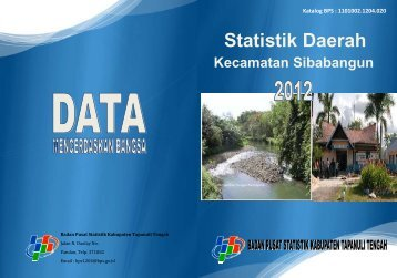 Statistik Daerah Kecamatan Sibabangun 2012