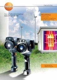Brochure dans le domaine de la thermographie pour l ... - TestoSites