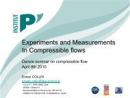Experiments and Measurements In Compressible flows - DANSIS