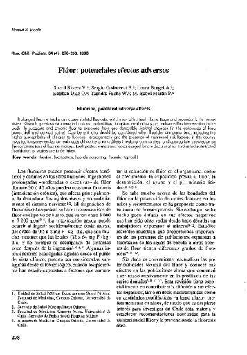 Fluor: potenciales efectos adversos - SciELO