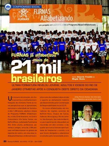 FURNAS já alfabetizou mais de 21 mil brasileiros