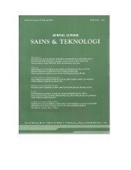 Jurnal Ilmiah Sains dan Teknologi - Repository UI