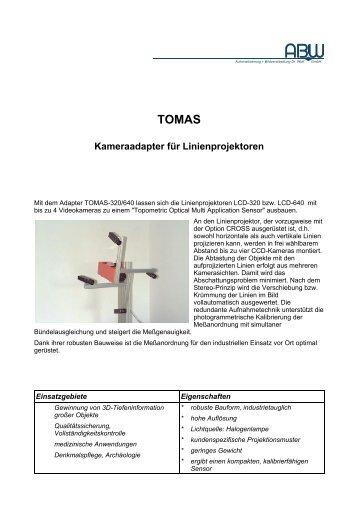 TOMAS Kameraadapter für Linienprojektoren - ABW Gmbh