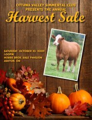 Ottawa Valley Simmental Club Presents the Annual - Indian River ...