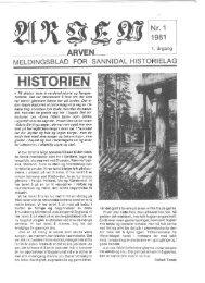 HISTORIE - Sannidal Historielag