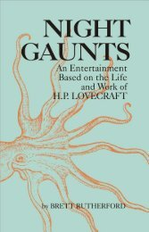 Night Gaunts: An Entertainment Based on the Life and ... - Poet's Press