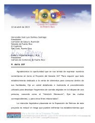 22 de abril de 2013 Honorable José Luis Dalmau Santiago ...
