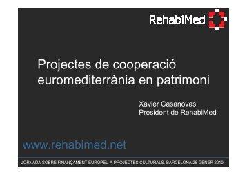 Xavier Casanovas RehabiMed - Universitat de Barcelona
