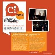 28–30 November 2012 - The Australian Centre for Social Innovation