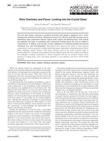 Wine Chemistry and Flavor: Looking into the Crystal Glass - EIT Online