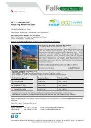 Eco Expo Asia 2013 sheet - Messe Reisen Falk