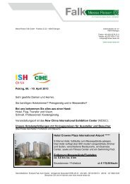 ISH China & CIHE 2013 - Messe Reisen Falk