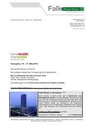 Intertextile Guangzhou Hometextile China 2013 - Messe Reisen Falk