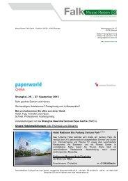 Paperworld China 2013 - Messe Reisen Falk