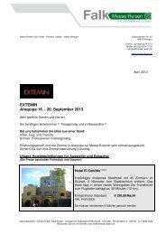 EXTEMIN, Arequipa 2013 - Messe Reisen Falk