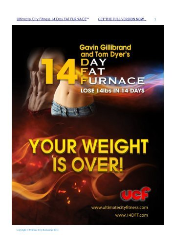 Ultimate City Fitness 14 Day FAT FURNACE™ GET THE FULL VERSION NOW 1