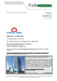 CHINA MED Peking 2013 - Messe Reisen Falk