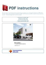 Istruzioni per l'uso BMW 120D - ISTRUZIONI PDF