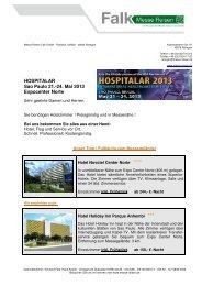 Hospitalar 2013 - Messe Reisen Falk