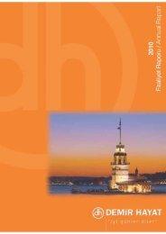 2010 yılı faaliyet raporları - Demir Hayat
